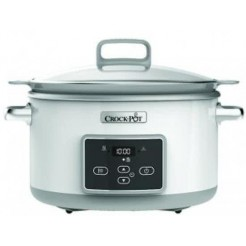Crockpot CR026X Sauté DuraCeremic Slowcooker 5 l Wit